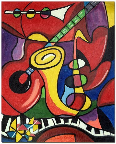 picasso paintings ebay musical instruments painted pablo picasso repro
