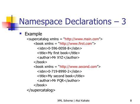 tutorial xml namespace 4 xml namespaces and xml schema