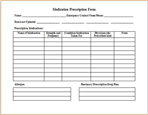 Pin By Microsoft Office Templates On Microsoft Templates Pinterest Medical Prescription Pharmacy Checklist Template