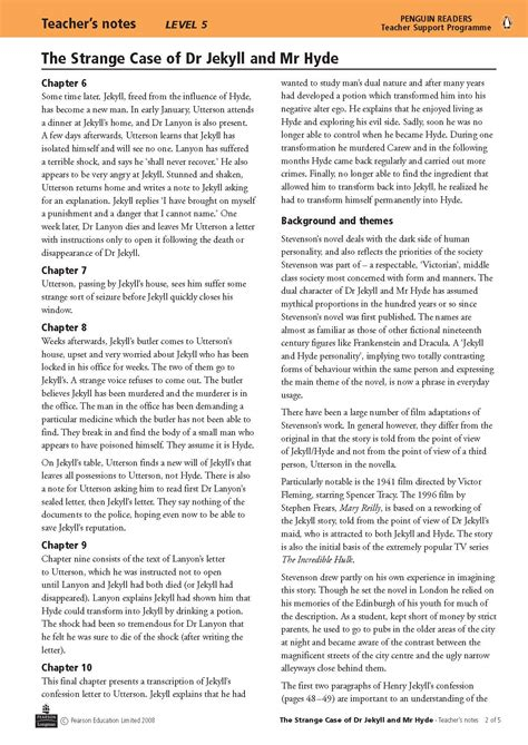 jekyll and hyde theme questions jekyll and hyde the english department