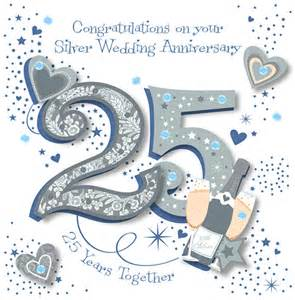 handmade silver 25th wedding anniversary greeting card anniversary wedding