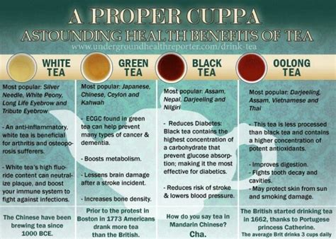The Their Tea by The 4 Different Types Of Tea And Their Benefits Teas And