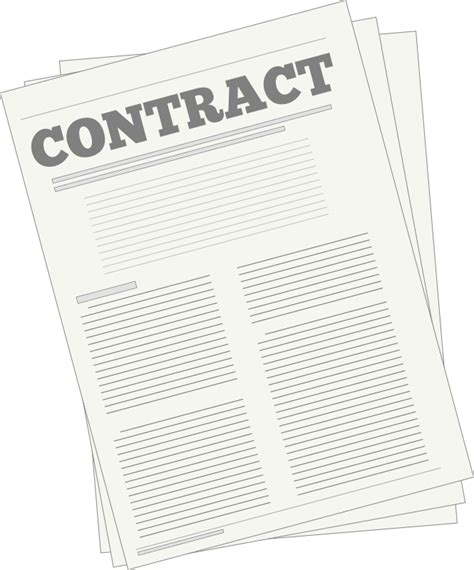 clipart contract