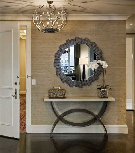 Foyer Mirror Ideas how to decorate a console table top seeing the forest through the trees