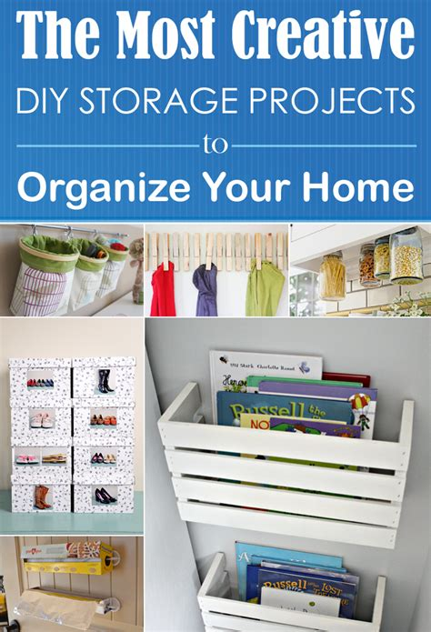 diy home storage projects the most creative diy storage projects to organize your home