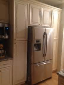 kitchen refrigerator cabinet complete your kitchen with double wide refrigerator for
