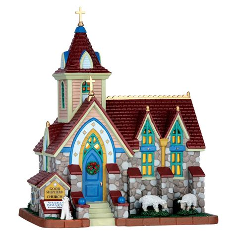 lemax christmas villages lemax shepherd church 65087 163 44 99 from lemax collectables