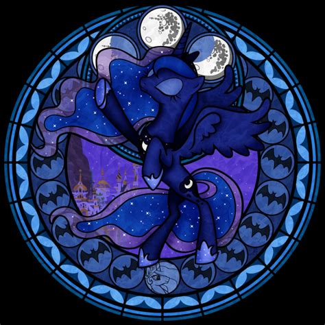 mlp nightmare moon stained glass princess luna character giant bomb