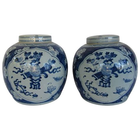 blue and white ginger jars chinese blue and white lidded ginger jars for sale at 1stdibs