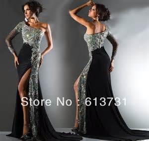 2013 new magic one shoulder long sleeve prom dresses