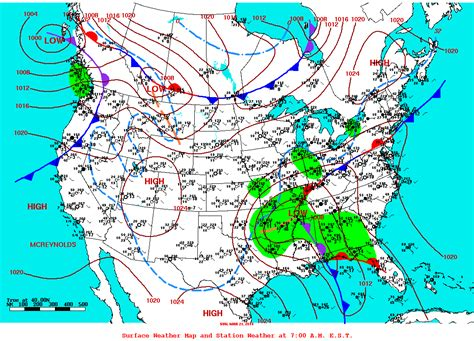 us weather map with station models record morning chill greets the days of 2010