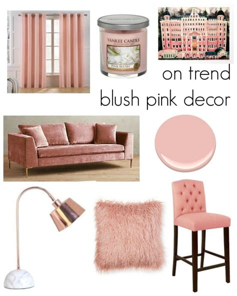 trend blush pink home decor remixedinteriors