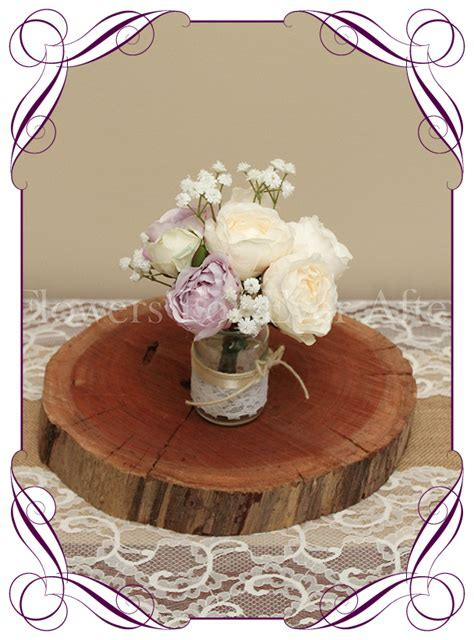 Lilac Mauve & Cream Peony Short Table Posy ? Gorgeous