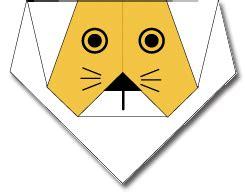 cara membuat origami singa cara membuat origami wajah singa cara membuat origami