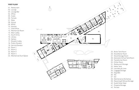 Restaurant Floor Plan With Dimensions fogo island inn saunders architecture archdaily