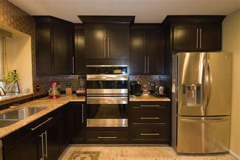 small kitchen with dark cabinets dark cabinets cabinets small kitchen enchanting home