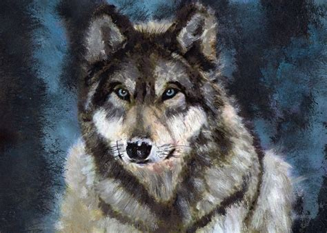 wolf painting gray wolf by barefoottiger on deviantart