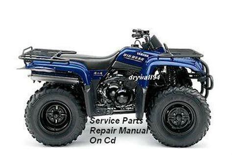 2000 2007 Yamaha Big Bear Yfm400 4x4 Service Parts Repair
