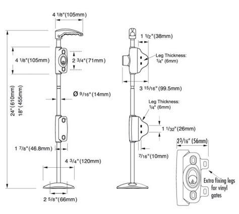 walking stick dimensions lokk bolt from d and d technologies lb218bx