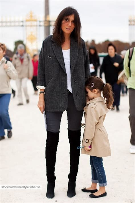 emmanuelle alt and thigh high boots that somehow look