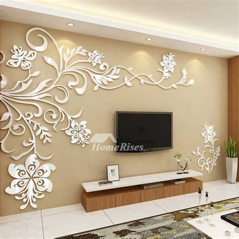 wall stickers home decor beautiful wall mural stickers 3d acrylic home decor living