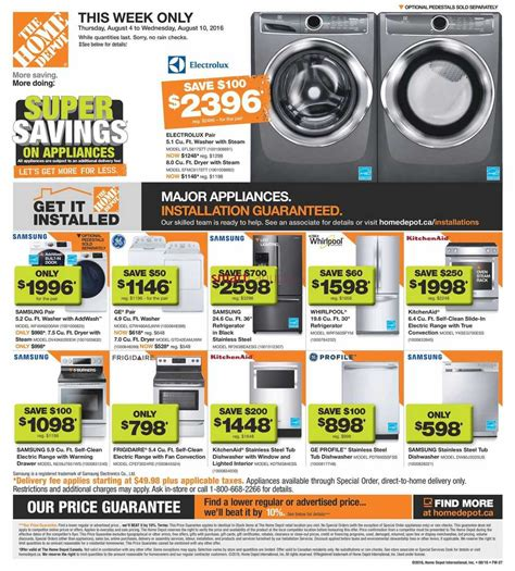 home depot flyer august 4 to 10