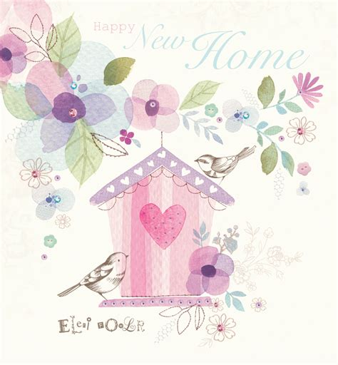 design house greetings inc new home watercolour birdhouse greetings card