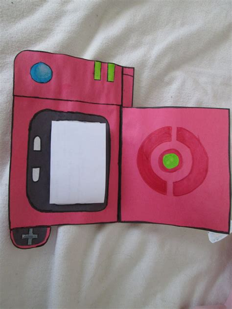 How To Make A Paper Pokedex - pokedex birthday card open by rooky16 on deviantart