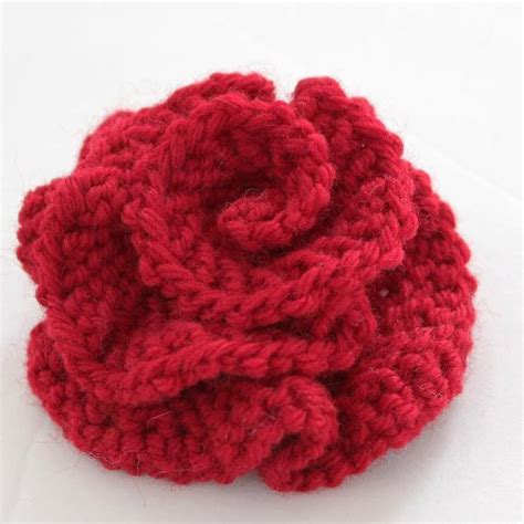 knit flower pattern you to see easy knitted flower on craftsy