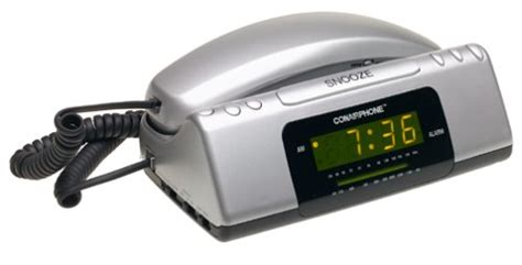 electronics store products telephones corded telephones with alarm clock