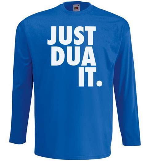 Tshirt Just Dua It just dua it langarm t shirt muslim halal wear blau