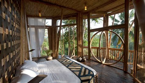 bamboo house  beautiful green village  thailand
