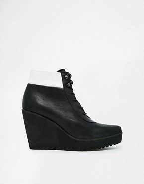 Arneta Lace Xl swear swear wedge heel lace up boots at asos