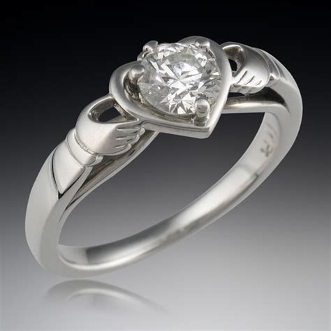 engagement ring palladium solitaire