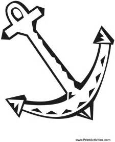 anchor color free boat anchor coloring pages