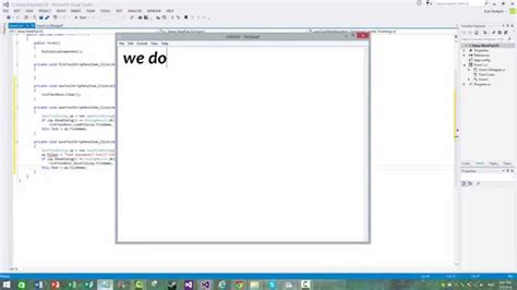 tutorial visual studio 2013 visual studio 2013 c notepad tutorial youtube