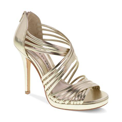 Sandal Wedgest Aj 07 lyst laundry imagine platform sandals in metallic