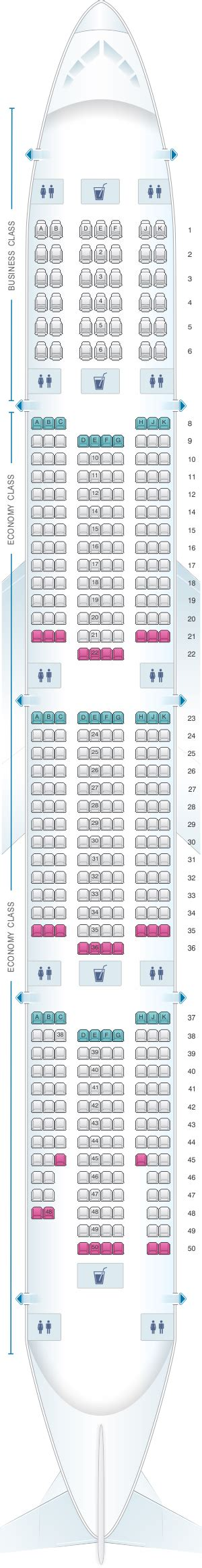 emirates seat map plan de cabine emirates boeing b777 300er two class