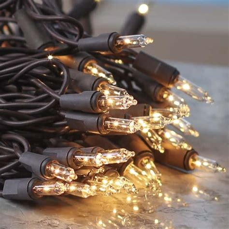 Clear Bulb And Brown Cord String Lights Lighting Brown String Lights