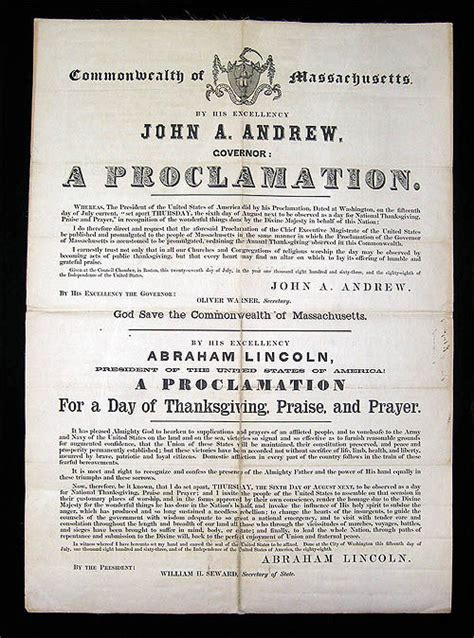 abraham lincoln on thanksgiving proclamation of thanksgiving by abraham lincoln