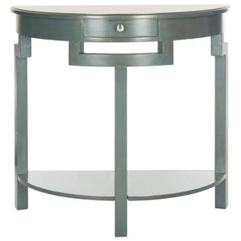 Teal Console Table Safavieh Liana Teal Console Table Amh6623b The Home Depot