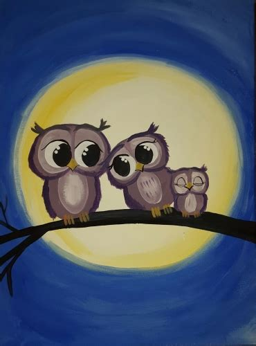 paint nite owl learn to paint owl on you