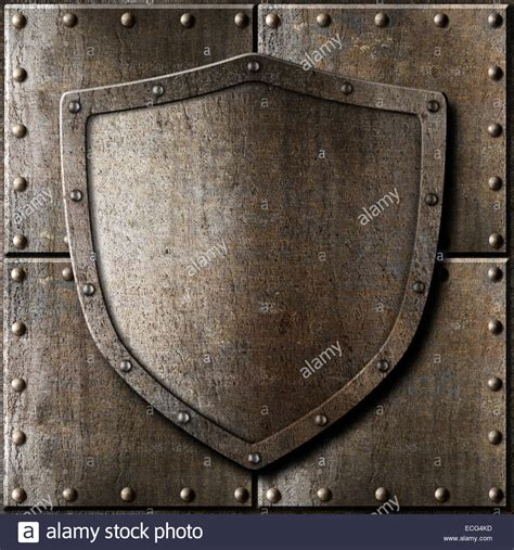 shield background metal shield armor background stock photo