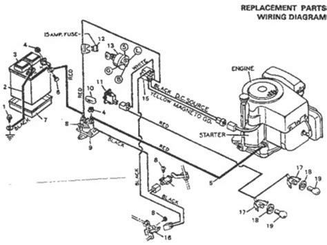 wiring diagram yard machine lawn tractor circuit and