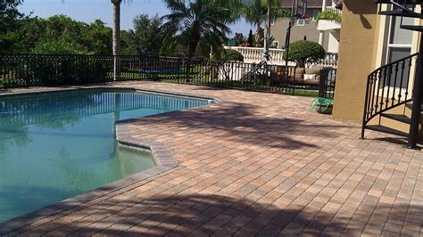 pool deck pavers paver pool deck sealing brick paver travertine sealing