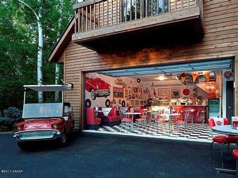 style diner  garage  style garage pinterest