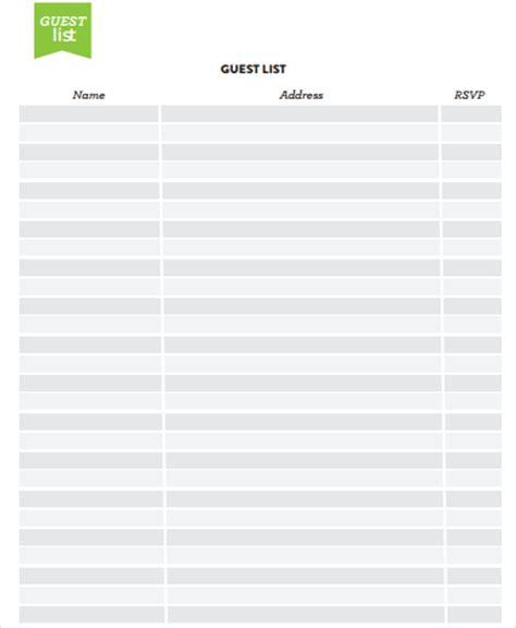 address list template address list templates 7 free word pdf format