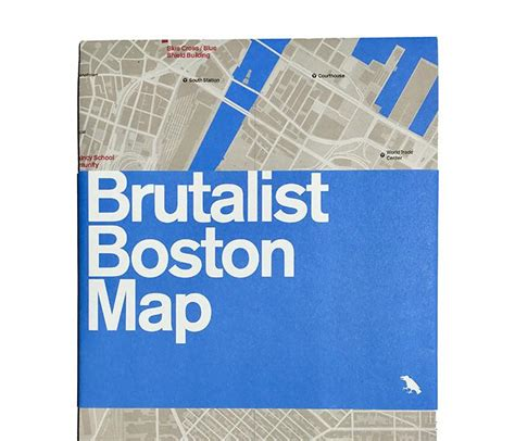 brutalist london map blue crow media independent map publishers