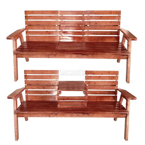wooden garden benches with table new garden patio 2 3 seater wooden bench chair foldable