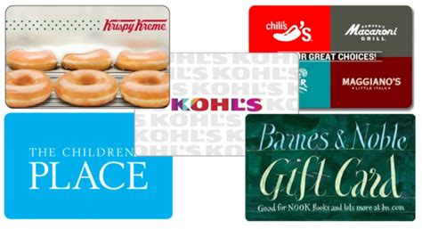 Kohls Discount Gift Card - discounted gift cards krispy kreme chili s kohl s plus